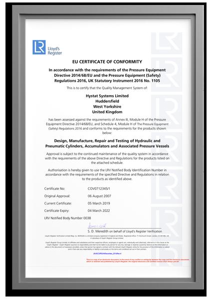 EU Certificate of Conformity – H1